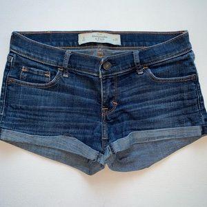 Abercrombie & Fitch Dark Blue Denim Shorts
